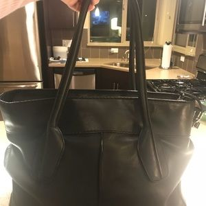 Tod's black Leather D Bag